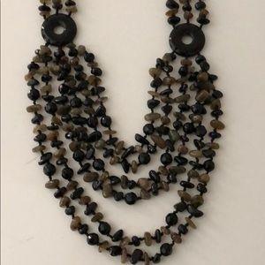 Jewelry - BOHEMIAN STYLE NECKLACE W / POLISHED BEADS